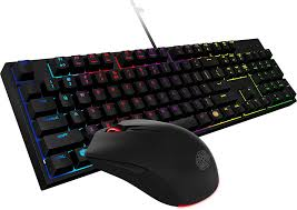 Combo with RGB LED Backlight and Cooler Master Mem-chanical Keyswitches, Black (SGB-3040-KKMF1-US)