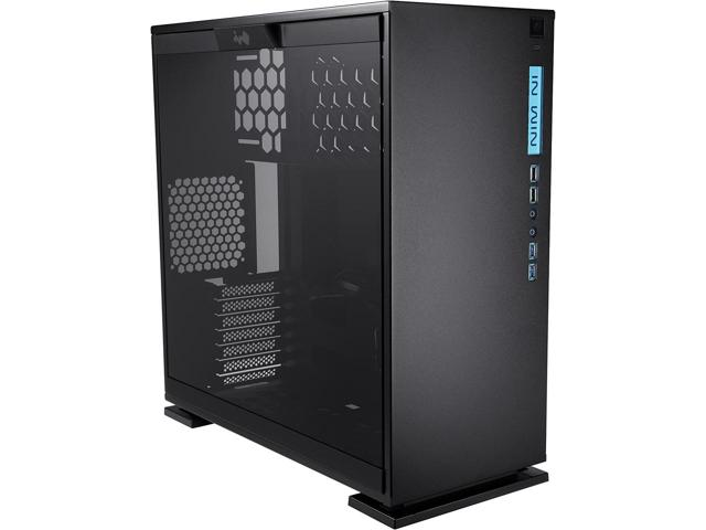 303 Black SECC Steel/Tempered Glass Case ATX Mid Tower, Dual Chambered/High Air Flow